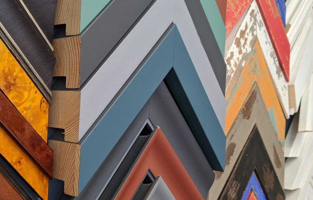 frames wooden metallic coloured